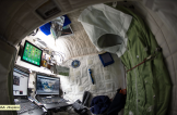"(04/24/2015) --- NASA astronaut Scott Kelly on the International Space Station shows off his personal living quarters in space. Scott tweeted this image out with the comment: "" My #bedroom aboard #ISS. All the comforts of #home. Well, most of them. #YearInSpace"". (Flickr: nasa2explore)"