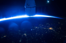 (05/14/2015) --- SpaceX's Dragon cargo capsule is seen here docked to the Earth facing port of the Harmony module. SpaceX's sixth commercial resupply flight to the International Space Station launched on April 14th and arrived three days later. It will depart with over 3,100 pounds of research samples and equipment and splashdown in the Pacific Ocean on May 21. (Flickr: nasa2explore)