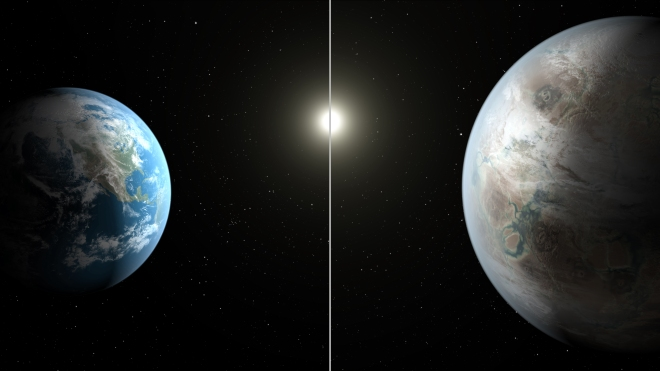 452b Earth Comparison Illustration