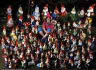 Devon artist Ann Atkin, 78, has a staggering 2,042 gnomes in her four-acre garden. She opened her 'gnome reserve' near Bradworthy to the public in 1979.