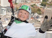 'Daring Doris' Long, from Hayling Island, is the oldest abseiler — she took up the sport at 85 and marked her 100th birthday by bouncing down Portsmouth's 94m Spinnaker Tower. This year, at 101, she broke her own record and hopes to repeat the feat at the tower in 2016.