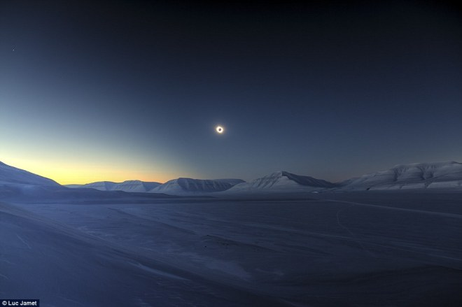 Overall Winner - Eclipse Totality over Sassendalen by Luc Jamet (France) - 20 March 2015 - Spitsbergen, Svalbard, Norway