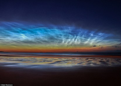 Skyscapes Runner Up - Sunderland Noctilucent Cloud Display by Matt Robinson (UK) - 7 July 2014 - Seaburn Beach, Sunderland, UK