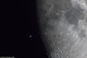 Our Moon Runner Up - ISS Terminator Moon by Daniel Fernández Caxete (Spain) - 8 April 2014 - Los Ranchos, Colmenarejo, Madrid, Spain