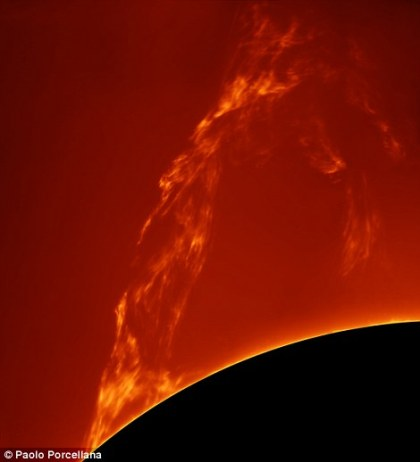 Our Sun Winner - Huge Prominence Lift-off by Paolo Porcellana (Italy) - 27 March 2015 - Costigliole d'Asti, Italy