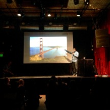 Kishore Hari talking about bridges. Very funny guy! (Credit: Krystian Science)
