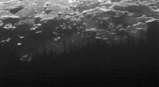Near-Surface Haze or Fog on Pluto. Credits: NASA/JHUAPL/SwRI